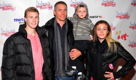 Anna Benson's ex-husband, Kris with their children.