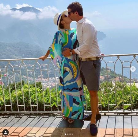 Love is in the air: Bethenny Frankel with her new boyfriend, Paul Bernon while enjoying their vacation in Italy.