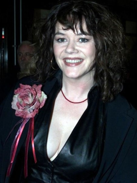 Photo of Josie Lawrence with a beautiful smile.