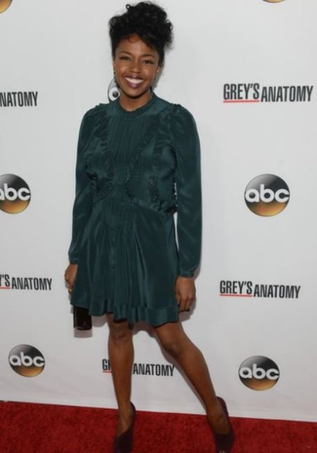 Jerrika Hinton arrived at the Grey's Anatomy's 200th Episode Celebration at The Colony on 28th September 2013 in Los Angeles, California.