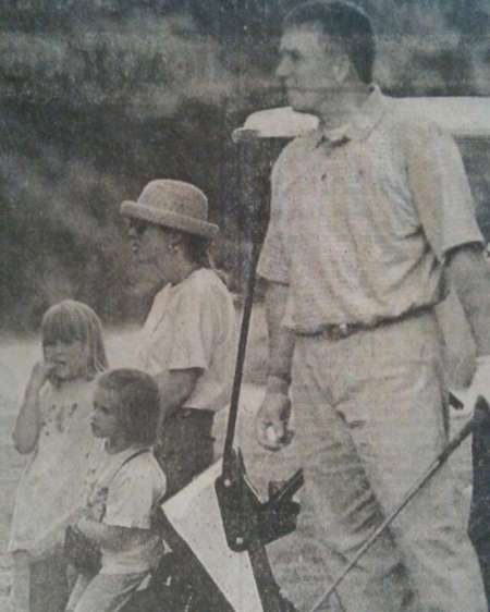 Childhood photo of Stormey Henley with her family.