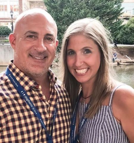 jim cantore with his ex wife Tamra Cantore