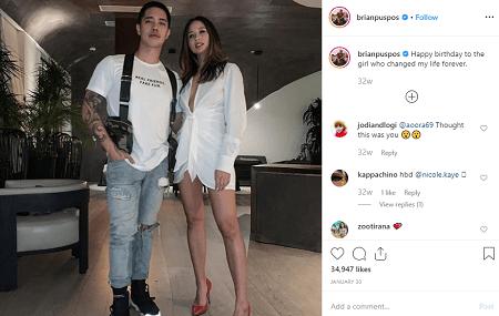 Choreographer Brian Puspos and his girlfriend Aja Dang