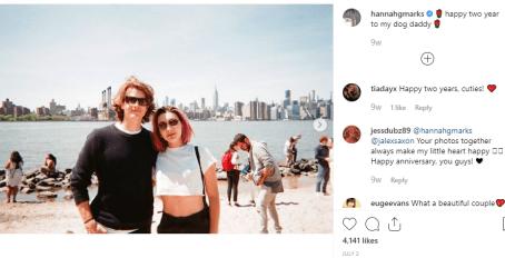 Alex Saxon with his girlfriend