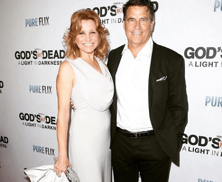 Gigi Rice with her spouse Ted McGinley at an event