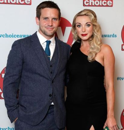 Jack Ashton with his partner, Helen George
