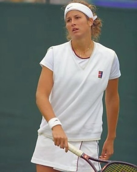 Mirka during her professional career as tennis player.