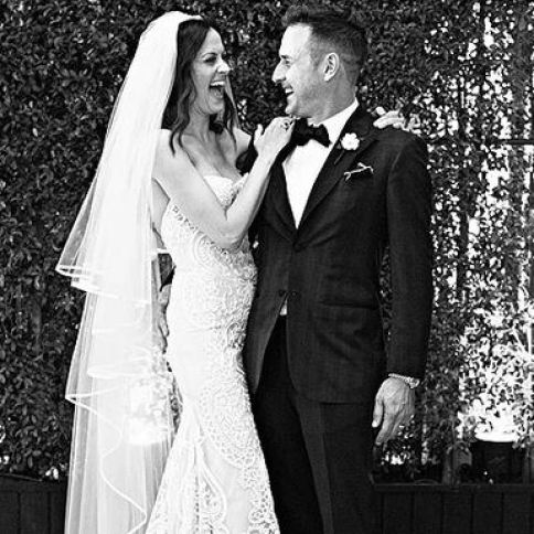 David Arquette and Christina McLarty on the day of their wedding in 2015