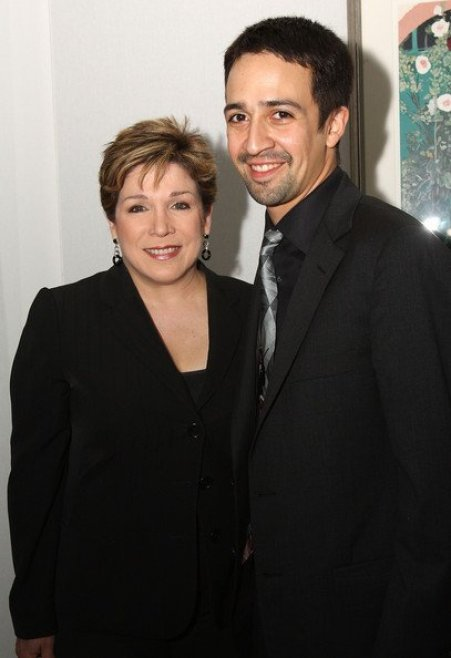 Denisse Oller with actor Lin-Manuel Miranda
