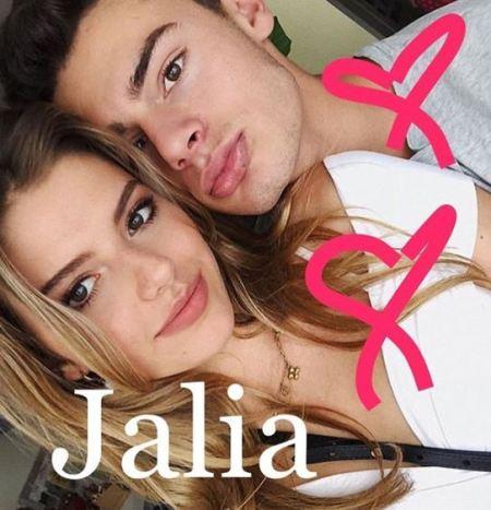 Jack Kelly and his girlfriend, Talia Papantoniou