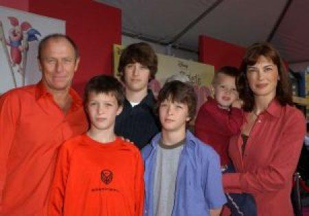 Corbin Bernsen and his family