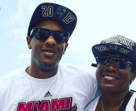 Mario Chalmers with his mother