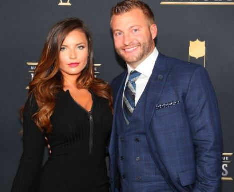 Sean McVay with his fiance, Veronika Khomyn