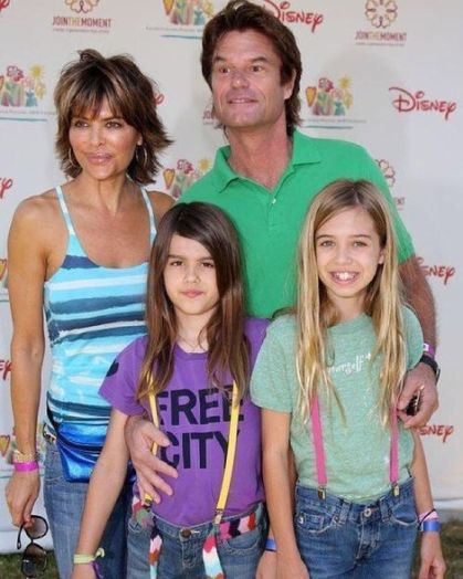 Harry Hamlin and his family