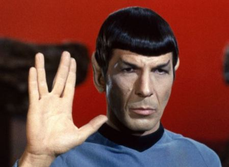 Leonard Nimoy portrays the role of Spock