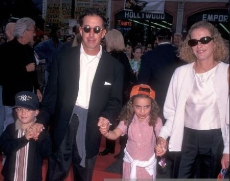 Wendy Finerman with her kids and former partner