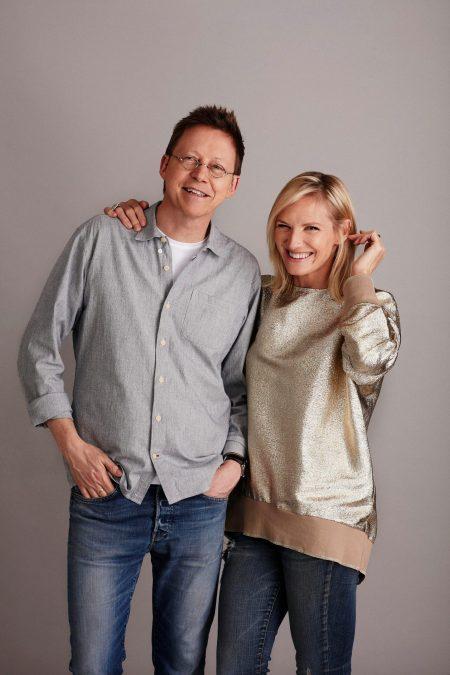 Hilary Bird with her beloved husband