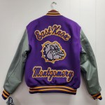 """Chenille 3"""" 3-Color """"EAST KNOX"""" Patch with Chenille 3"""" 3-Color Personal Name with Chenille Bulldog on Center Back"""