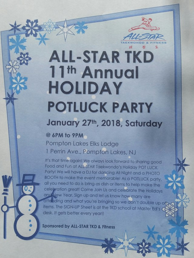 Taekwondo Holiday Party