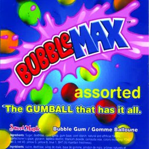 Bubble Max Bubble Gum Assorted Gum 850 CT
