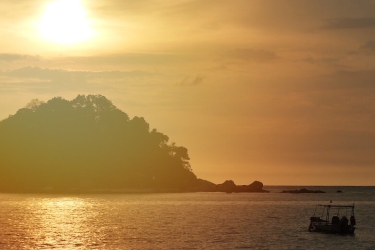 Sonnenuntergang, Pangkor Island, Alltagsgewusel, Weltreise, Daddys Cafe