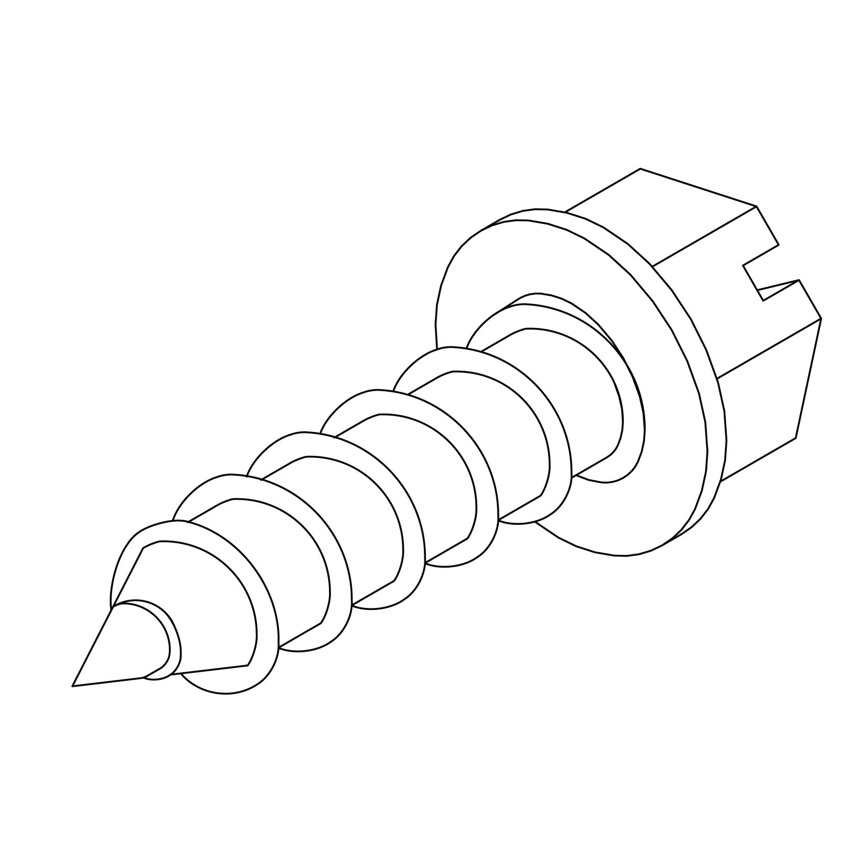 Self Forming Sheet Metal Screws For Lightning Protection Systems