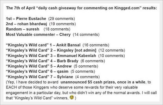 Kinsley Wild Card on Kingged.com - make money online