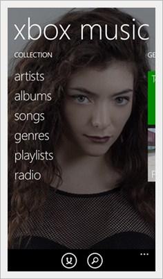 windows phone 8.1 xbox music