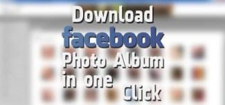 Download Facebook Photo Album in One Click