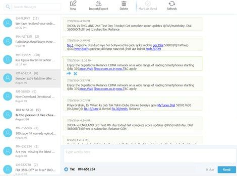 Wondershare MobileGo for Android PC Suite - SMS