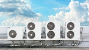 commercial air conditioning on building in denver