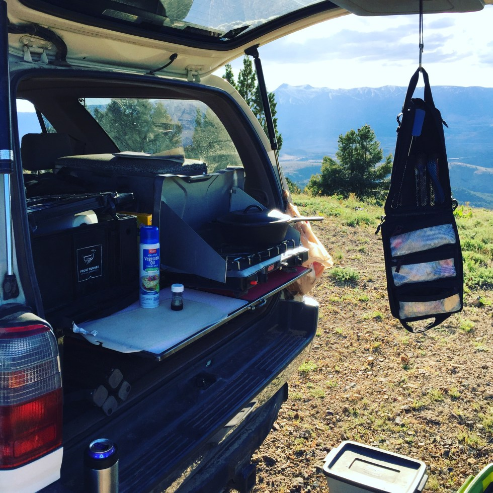 3rg Gen 4Runner overlanding Cargo deck with table