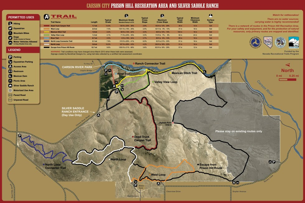 Prison Hill Recreation Area Trail Map