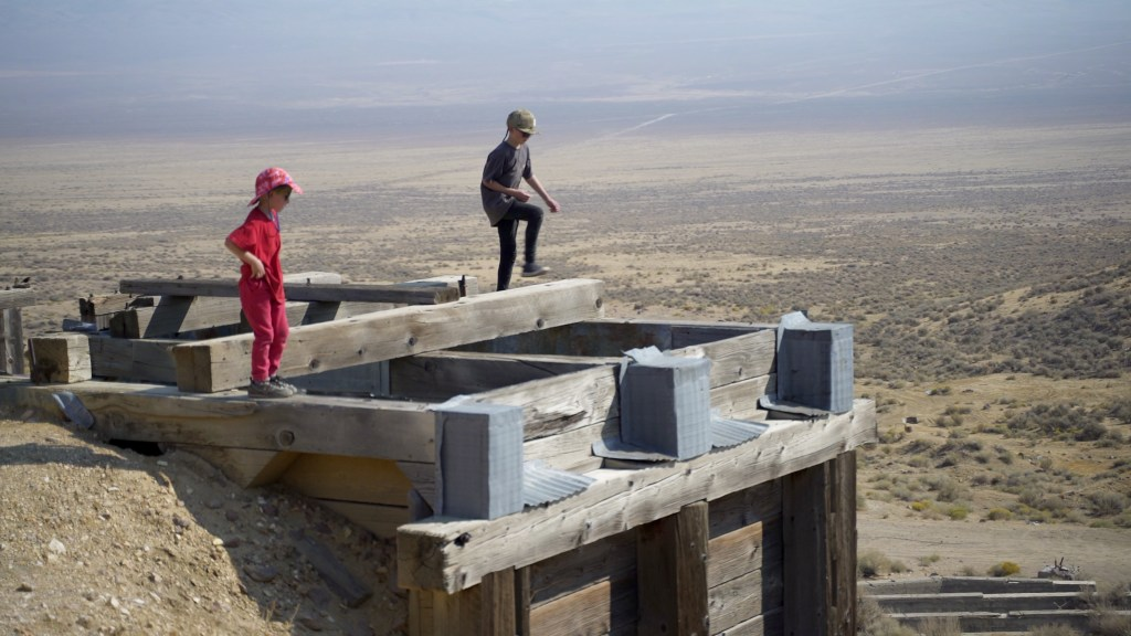 Ore hopper Tunnel Camp Nevada
