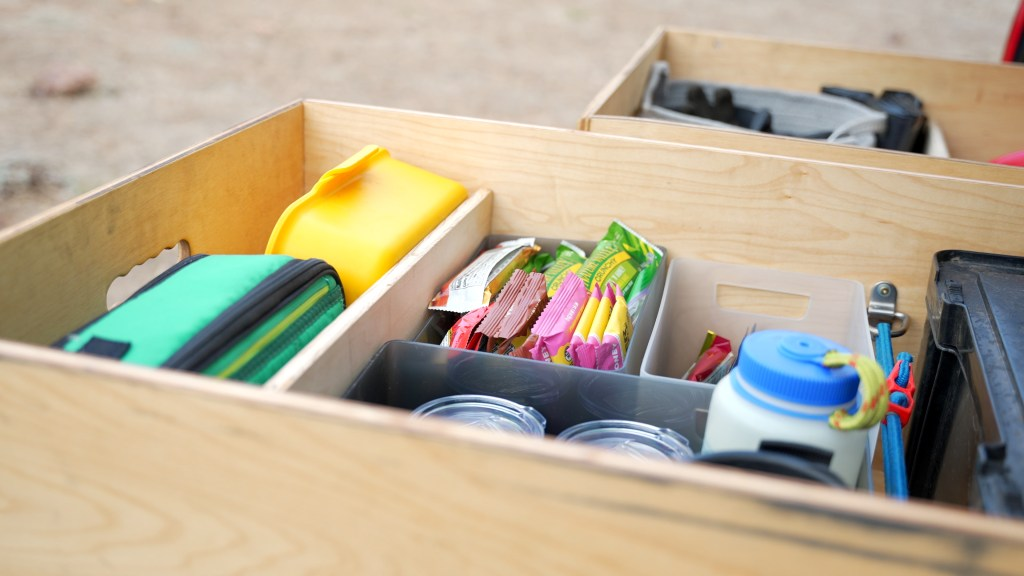 Drawer system for camping gear