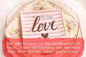 Anniversary is the celebration of trust & love.
