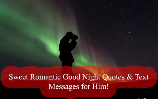 Sweet Romantic Good Night Quotes & Text Messages for Him