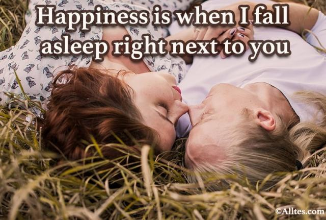 Happiness is when I fall asleep