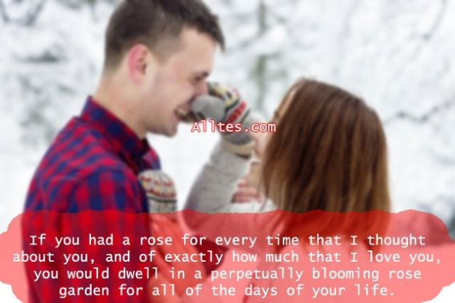 If you had a rose for every time that I thought about you