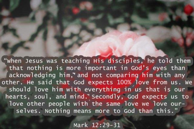 Mark 12:29-31