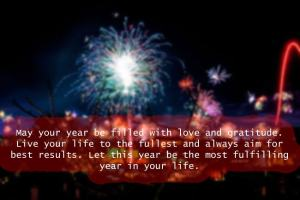 May your year be filled with love and gratitude.