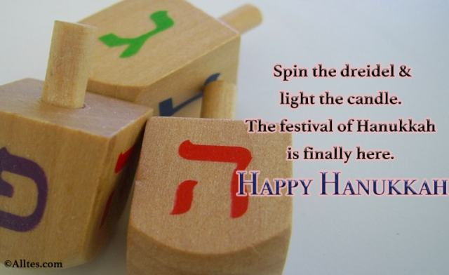 Spin the dreidel and light the candle