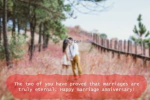 The two of you have proved that marriages are truly eternal. Happy marriage anniversary!