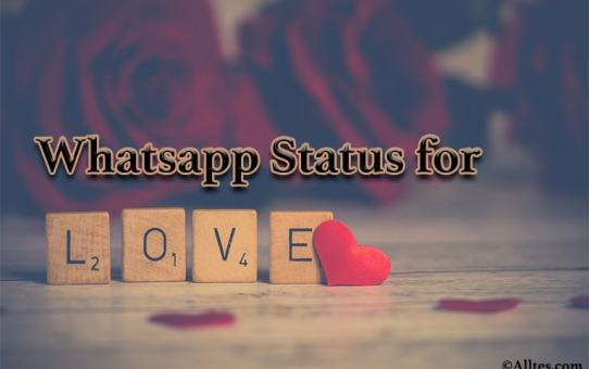 Whatsapp status for love