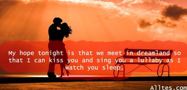 my hope tonight is that we meet in dreamland