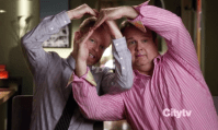 Favorite couple (C): Cam and Mitchell - Modern Family. Just saying. If you look up Mitchell and Cam, you'll probably find the description 'perfect twosome'. Hurray for Jesse Tyler Ferguson and Eric Stonestreet. So brilliantly hilarious.