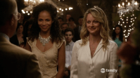LGBT love (M): Lena and Stef - The Fosters. This show really deserves some love. It's about a lesbian couple Lena and Stef with one biological son and an adopted twin, who adopt another boy and girl. When the Supreme Court decision about same-sex marriages was made, The Fosters was the first to anticipate. Lena and Stef got married with Same Love by Macklemore playing in the background. They couldn't have done it better.
