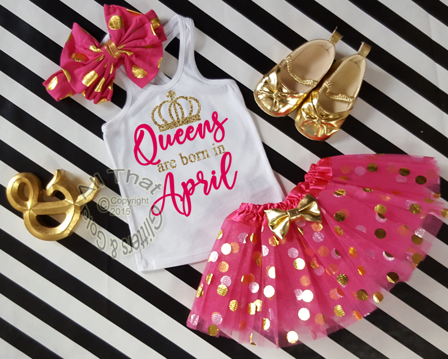 Hot Pink And Gold Birthday Outfit Girls Clothing Clothing Escolasaovicente Com Br