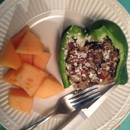 stuffed peppers, cantalaupe