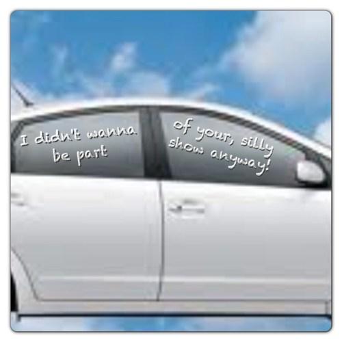 Chapstick on the car window